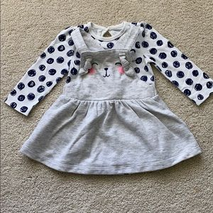 NWOT Cat & Jack Set Outfit Overall Long Sleeve
